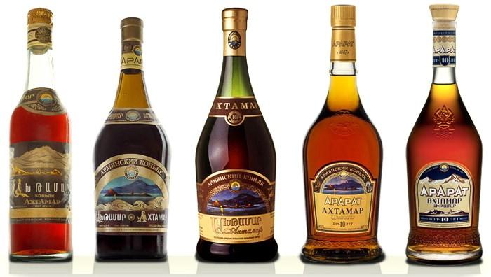этикетки на армянский коньяк