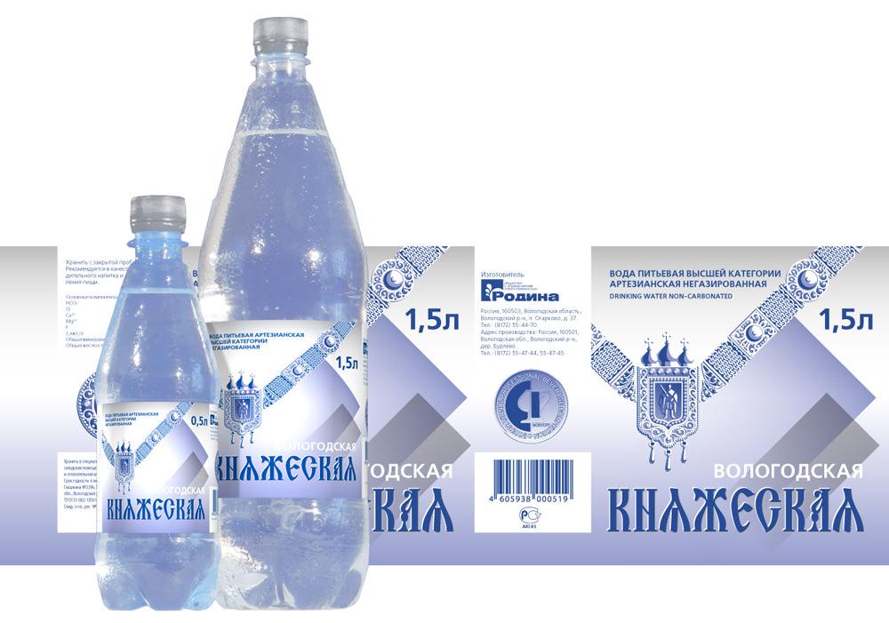 Маркировка бутылок воды этикеткой